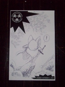Another Lieam by David Petersen, this one was done at the Comic Vone party on Friday night.