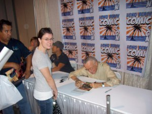 Maggie & The Man signing Spider-Man #41, 1st appearance of Rhino!