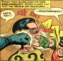Let's try -- shattering his jaw!